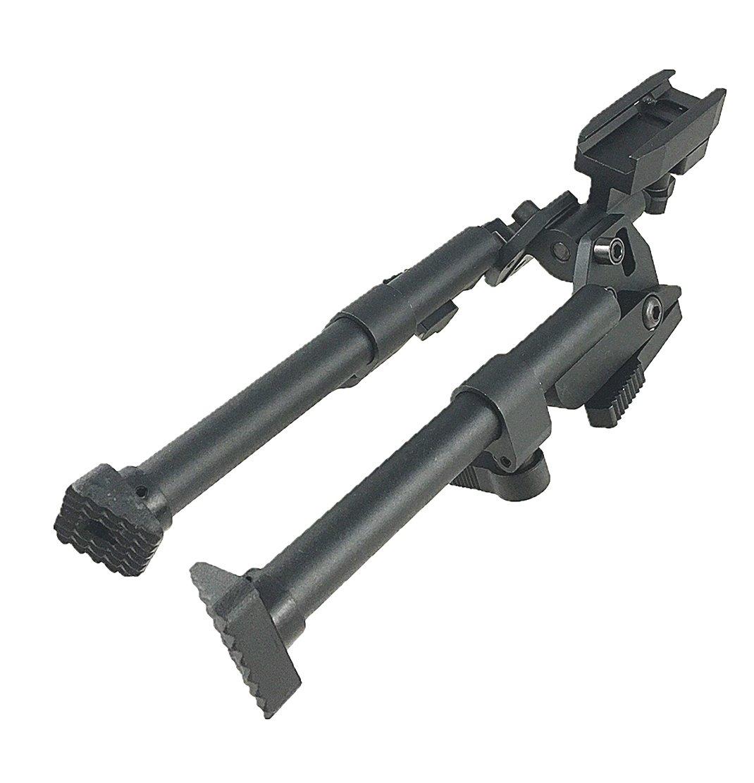 "New Adjustable 9/""-12/"" Bottom Weaver Picatinny Rail Mount Bipod Aluminum 6061 T6"